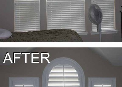 before and after white shutter