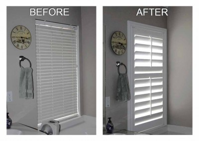 before and after blinds to shutter