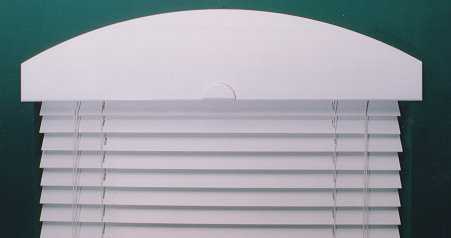 plain white arch blinds