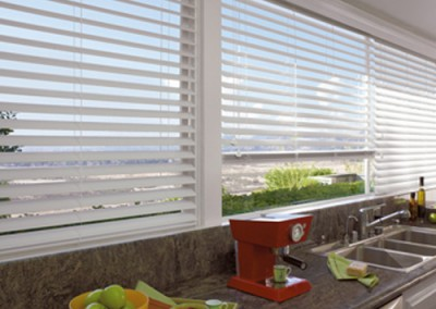 white window blinds