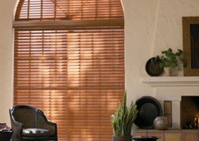 wooden arch blinds
