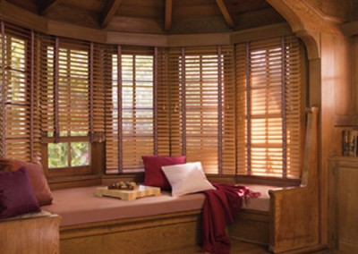 beautiful wood blinds