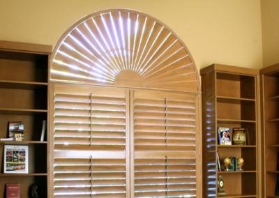 wood shutter arch