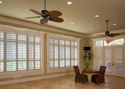 elegant white shutters