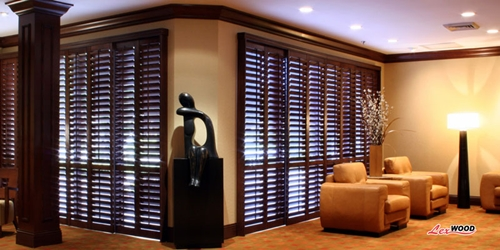brown shutters - sideview
